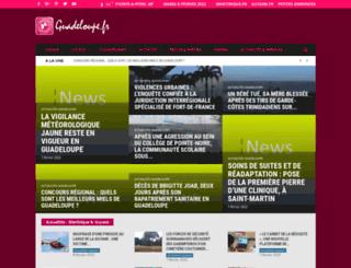 guadeloupe.fr screenshot