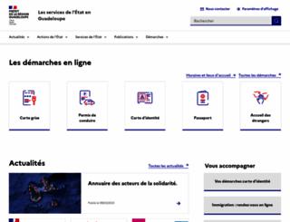 guadeloupe.pref.gouv.fr screenshot
