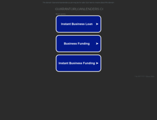 guarantorloanlenders.co.uk screenshot