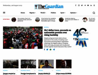 guardian.ng screenshot