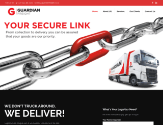 guardianfreight.co.za screenshot