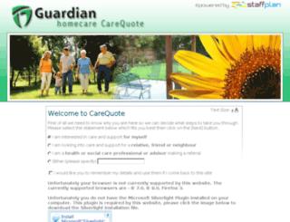guardianwb.carequote.org screenshot