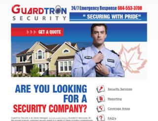 guardtronsecurity.ca screenshot