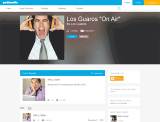 guarosonair.podomatic.com screenshot