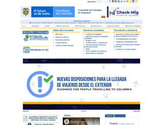 guayaquil.consulado.gov.co screenshot