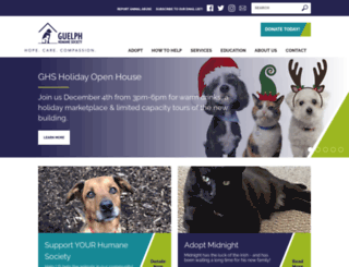 guelph-humane.on.ca screenshot