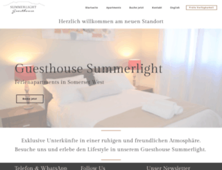 guesthouse-summerlight.de screenshot