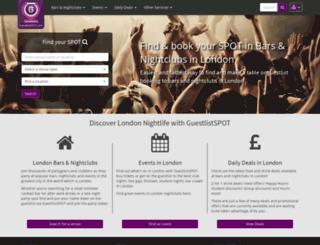 guestlistspot.com screenshot