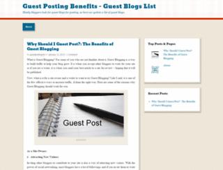 guestpostinglist.wordpress.com screenshot