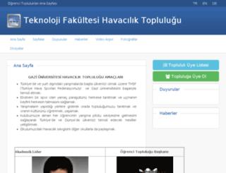 guhavacilik.gazi.edu.tr screenshot