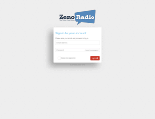gui.zenoradio.com screenshot