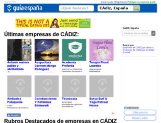 guia-cadiz.guiaespana.com.es screenshot