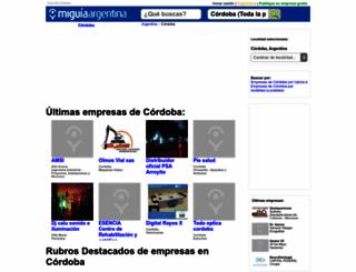 guia-cordoba.miguiaargentina.com.ar screenshot