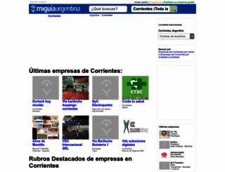 guia-corrientes.miguiaargentina.com.ar screenshot