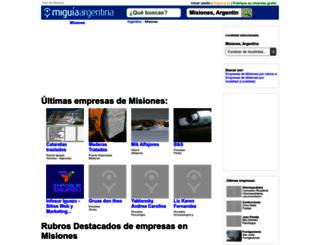 guia-misiones.miguiaargentina.com.ar screenshot