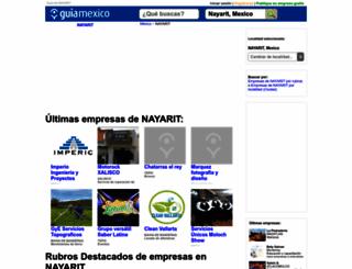 guia-nayarit.guiamexico.com.mx screenshot