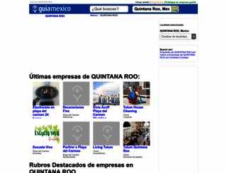guia-quintana-roo.guiamexico.com.mx screenshot