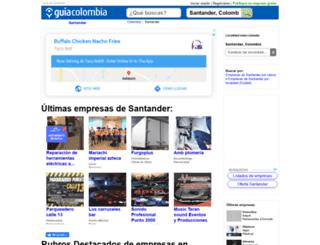 guia-santander.guiacolombia.com.co screenshot