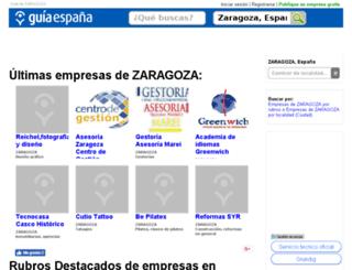 guia-zaragoza.guiaespana.com.es screenshot
