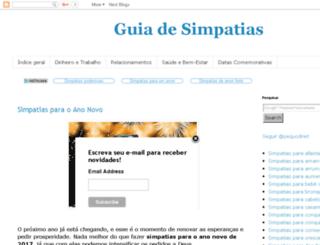 guiadesimpatias.blogspot.com.br screenshot