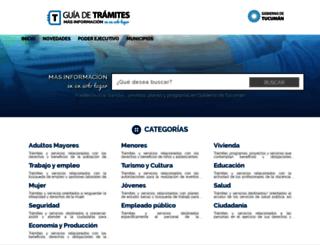 guiadetramites.tucuman.gov.ar screenshot