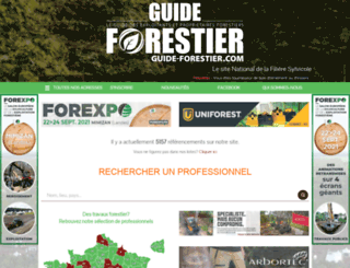 guide-forestier.com screenshot
