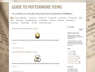 guide-to-pottermore-items.blogspot.com screenshot