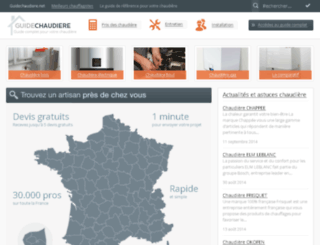 guidechaudiere.net screenshot