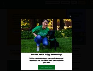 guidedogs.com screenshot