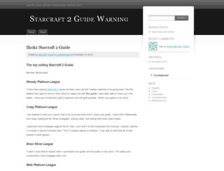 guideforstarcraft2.wordpress.com screenshot