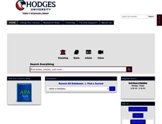 guides.hodges.edu screenshot