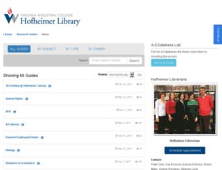 guides.vwc.edu screenshot