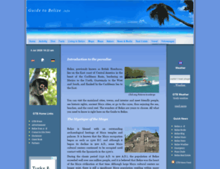 guidetobelize.info screenshot