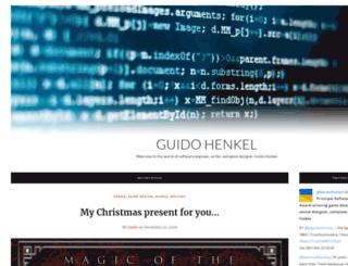 guidohenkel.com screenshot