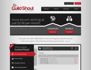 guildshout.com screenshot