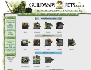 guildwars2-pets.com screenshot