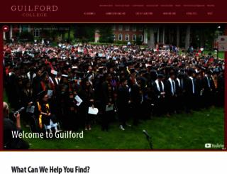 guilford.edu screenshot