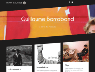 guillaumebarraband.com screenshot