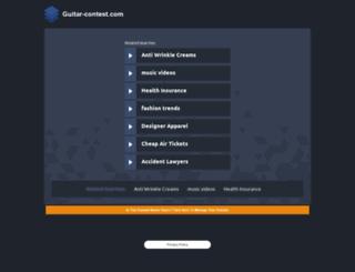 guitar-contest.com screenshot