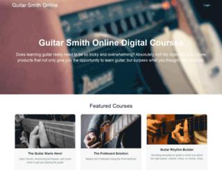 guitar-smith-online.teachable.com screenshot