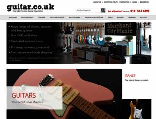 guitar.co.uk screenshot