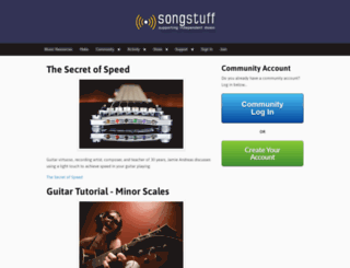 guitar.songstuff.com screenshot