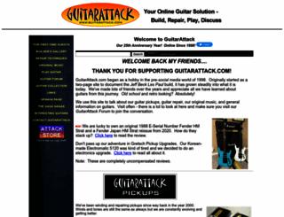 guitarattack.com screenshot