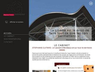 guitard-avocat.fr screenshot