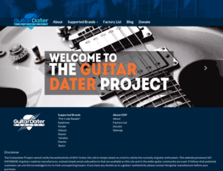 guitardaterproject.org screenshot