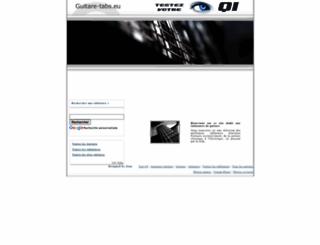 guitare-tabs.eu screenshot