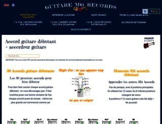 guitare.mg-records.com screenshot