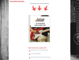 guitarhotshot.com screenshot