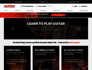 guitarinstructor.com screenshot