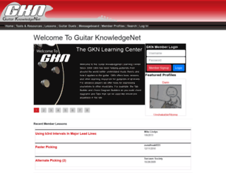 guitarknowledgenet.com screenshot